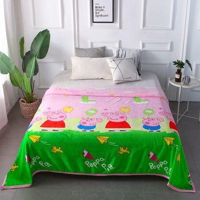婴儿冰丝毯乳胶被子羊毛加厚纯棉抱枕褥单人电热巾长头卡通夏天凉