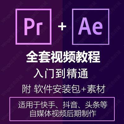 PR/AE视频剪辑制作教程入门到精通抖音快手后期剪辑制作全套课程