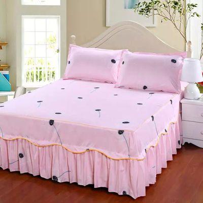 床裙床罩真丝件套全棉亚麻床单单人纯棉套家纺床笠单件床盖件套水