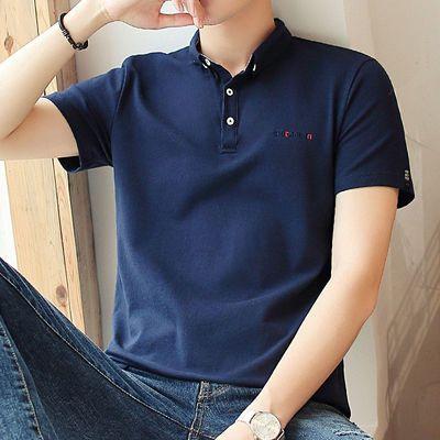 95棉高品质男士t恤男短袖男纯棉polo衫宽松潮流韩版翻领学生衣服