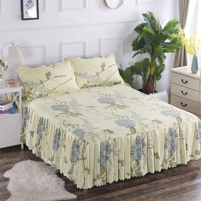 床罩单件新款白色席梦思垫套头蚊帐子裙四定做绒被蓝灰笠宾馆粉加