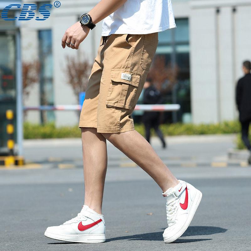 [CBS genuine] Men's summer leisure pants, men's multi-bag pants, men's five-minute pants, elastic shorts, men's seven-minute pants