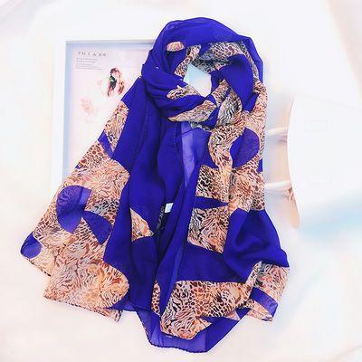 瑞格丽特 大规格韩版女围巾披肩两用春夏百搭纱巾雪纺丝巾