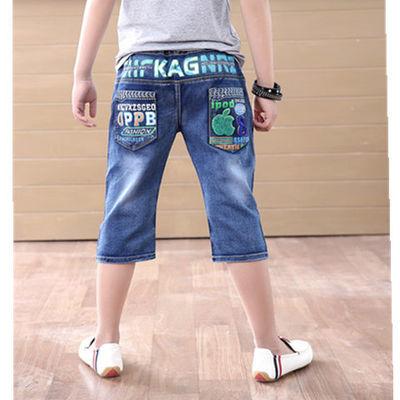 童装牛仔短裤七分新款薄儿休闲韩版男中夏潮子帅气冬十岁孩女