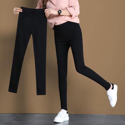 春季女长裤黑色外穿打底裤女士大码高腰显瘦夏季薄款小脚铅笔裤子