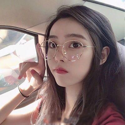 网红同款眼镜男女生百搭平光近视镜近视度数可配韩版潮流大框眼镜