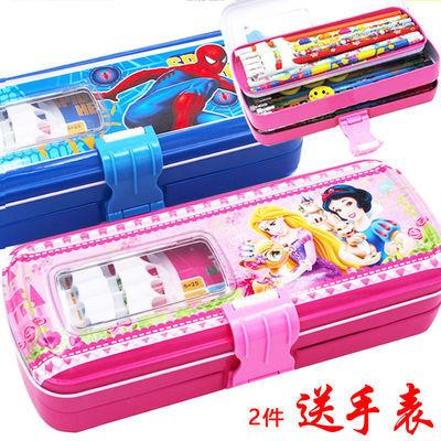 小学生多层文具盒男女幼儿童多功能铅笔盒韩版可爱大容量卡通笔袋