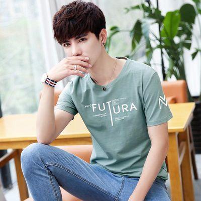 男士2019新款夏季短袖t恤打底衫韩版潮流半袖上衣服潮牌男装小衫