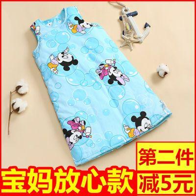 婴儿睡袋春夏季薄款宝宝背心式防踢被儿童无袖睡袍中大童睡衣纯棉