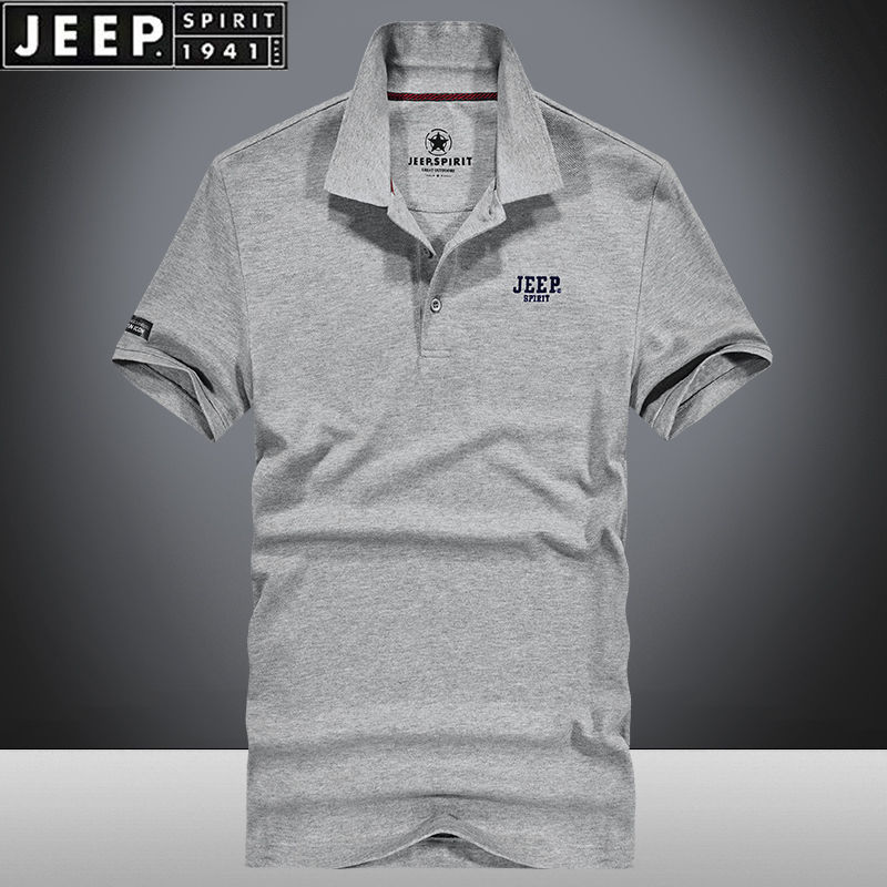 [Jeep] Jeep Summer Short Sleeve T-Shirt Summer Cotton Loose Large Base Shirt Thin Casual Polo
