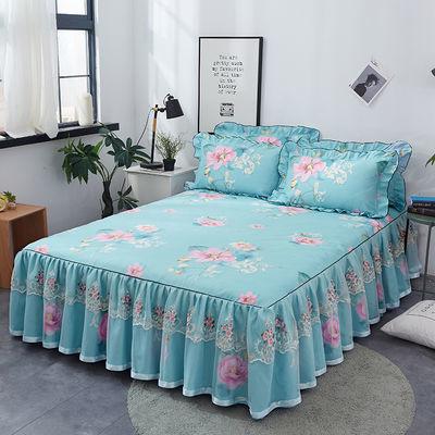 【送全棉毛巾】韩版加厚蕾丝床裙单件防滑床罩三件套席梦思保护套