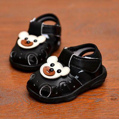 小童凉鞋学步鞋软底防滑女宝宝鞋夏季叫叫鞋带铃铛牛筋底婴儿