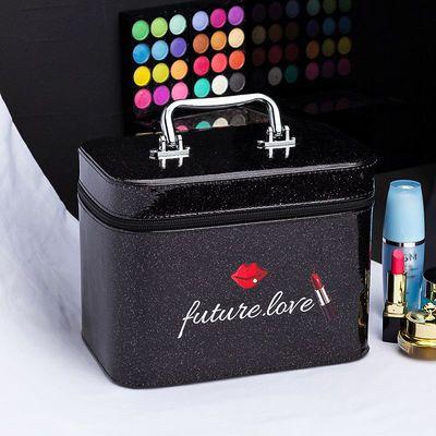 化妆包大容量小号便携韩国简约可爱少女收纳盒品大网红赠品化妆箱