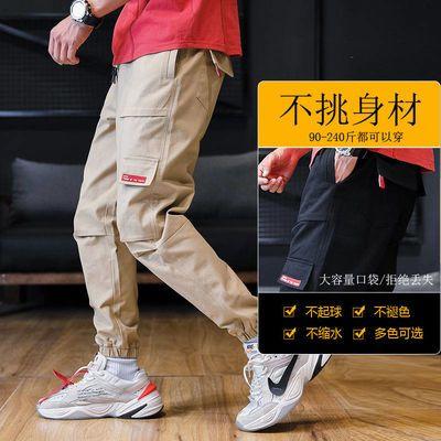 裤子男工装裤男潮韩版男士休闲裤束脚裤九分裤哈伦裤夏季工装裤男