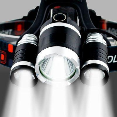 【28.8一套包邮】三头灯强光充电远射头戴LED矿灯头灯钓鱼灯