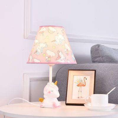 公主台灯卧室创意儿童房粉色温馨可爱女孩少女心儿童学生床头柜灯