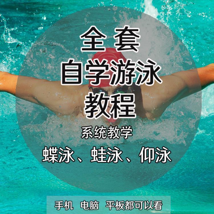 零基础入门自学游泳教学蛙泳自由泳仰泳蝶泳技巧合集视频教程