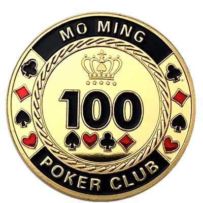 包邮 筹码数字100镀金纪念币 收藏币金币皇冠硬币