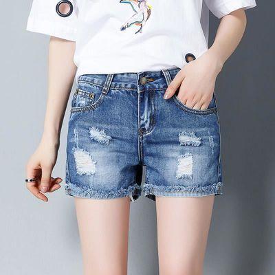 【多色可选】牛仔短裤女夏高腰宽松破洞修身显瘦阔腿热裤2020新款