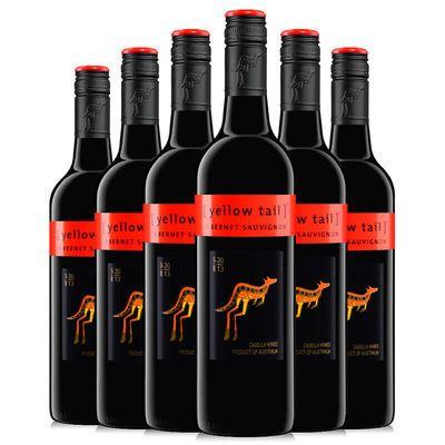 广东总代理 黄尾袋鼠加本力苏维翁红葡萄酒 750ml*6支多规格可选