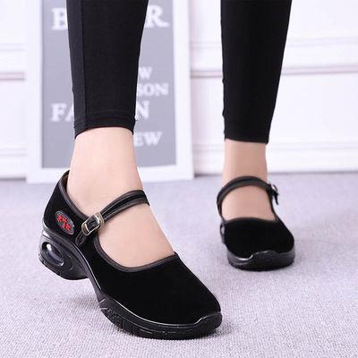 老北京布鞋女单鞋上班跳舞软底黑色布鞋女工作鞋舒适厚底妈妈女鞋