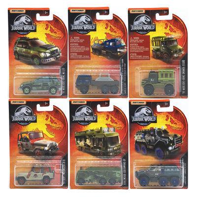 MATCHBOX火柴盒侏罗纪世界电影小车模型玩具 奔驰越野车吉普卡车