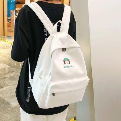 校园背包女学生韩版帆布书包女初中双肩包女高中学生包包女大容量