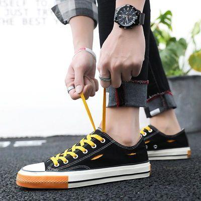 夏季新款男士帆布鞋青少年透气男鞋男装潮流学生鞋男式时尚休闲鞋