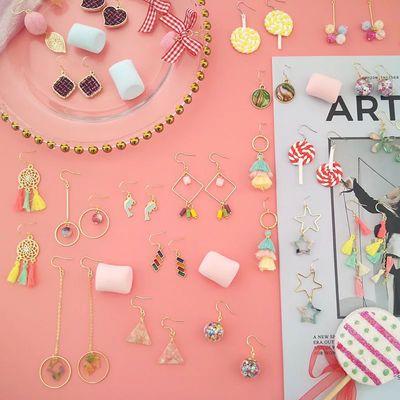 【2对装】925银糖果网红少女系萝莉耳环原创手工韩国时尚饰品女