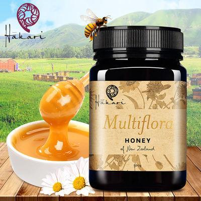 哈咔瑞(Hākari)新西兰原瓶进口蜂蜜天然百花蜂蜜500g