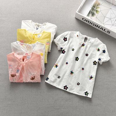 女童 泡泡短袖上衣薄款0一1岁宝宝夏装女童夏儿童夏季3-6女宝t恤