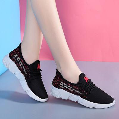 2019春夏新品女士休闲运动鞋透气轻便网布鞋防滑耐磨跑步鞋