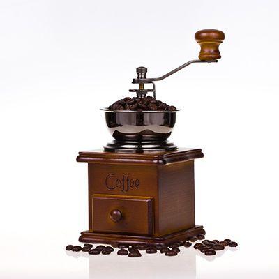 磨豆机咖啡豆研磨机手摇咖啡机磨豆机家用复古小型粉碎机磨粉