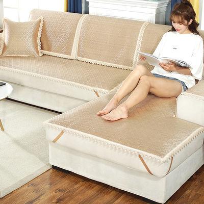 透气沙发垫夏季凉席坐垫夏天款藤席冰丝防滑凉垫简约沙发套罩巾