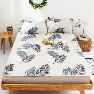 珊瑚绒被套单件人床三加四凉席毯子厚笠垫竹公主风罩草枕头裙双面