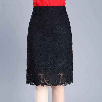 A05蕾丝半身裙女夏时尚短裙大码春秋季包臀裙A字中长款职业一步裙
