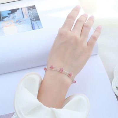 可爱桃心手链手镯女韩版简约饰品百搭甜美学生闺蜜生日礼物