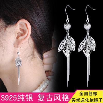 S925纯银耳环女韩国长款流苏耳坠时尚百搭气质银饰品礼物防过敏