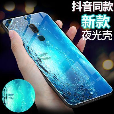 oppoa9手机壳夜光oppoA9x保护套玻璃oppoa9手机套防摔抖音同款潮