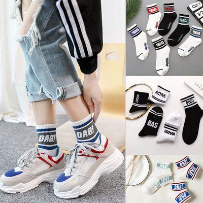 夏季新款韩版百搭原宿学生中筒袜长袜薄款袜子女袜子男士篮球袜子