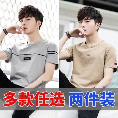 夏季短袖t恤男学生韩版潮流青少年宽松半袖男士上衣服原宿风衣服