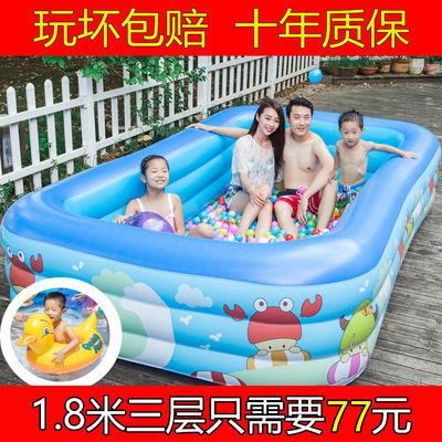 婴儿充气游泳池家用宝宝儿童洗澡桶成人超大号室内泡澡桶海洋球池