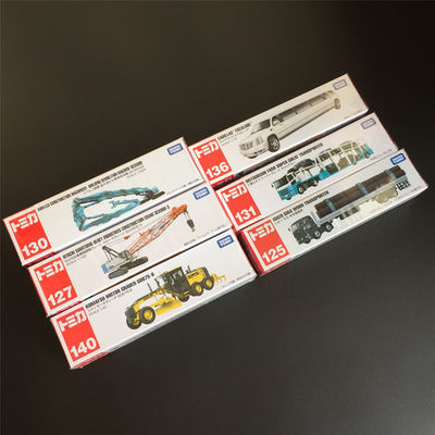 TOMY日本多美卡长款仿真车模型日立工程三菱重型运输卡车奔驰巴士