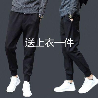 2019夏季款男士休闲裤男士修身哈伦裤小脚运动裤男宽松长裤子男裤