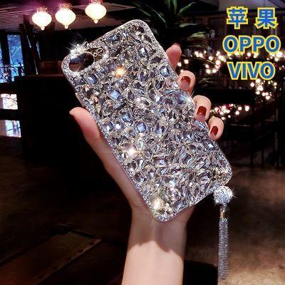 OPPOa7x/a5水钻手机壳硅胶Reno/v3ma奢华满钻vivo y93/y85女款NEX