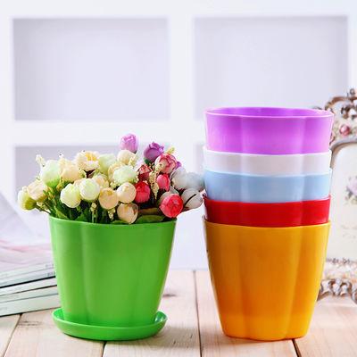 加厚花盆【送托盘+花种+生根粉】绿植花卉多肉塑料花盆种菜盆