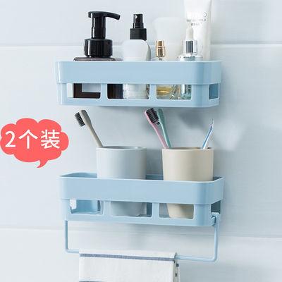 卫生间置物架免打孔壁挂式多功能收纳架浴室厨房肥皂盒墙上三角架