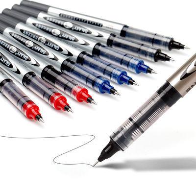 摩擦笔金属圆珠杆签字芯按动.5白墨囊蓝黑色直液38油汇源果汁钢碳