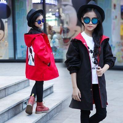 羽绒棉服女中长款童卫衣男12岁孩外套大春装宝秋夹克衫短皮小牛仔