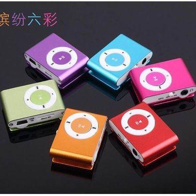 mp3随身听学生听力带夹子无屏插卡mp3迷你跑步运动听歌播放器